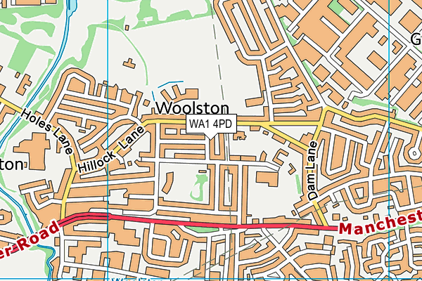 WA1 4PD map - OS VectorMap District (Ordnance Survey)