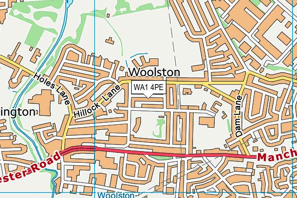 WA1 4PE map - OS VectorMap District (Ordnance Survey)