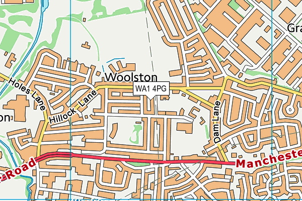 WA1 4PG map - OS VectorMap District (Ordnance Survey)