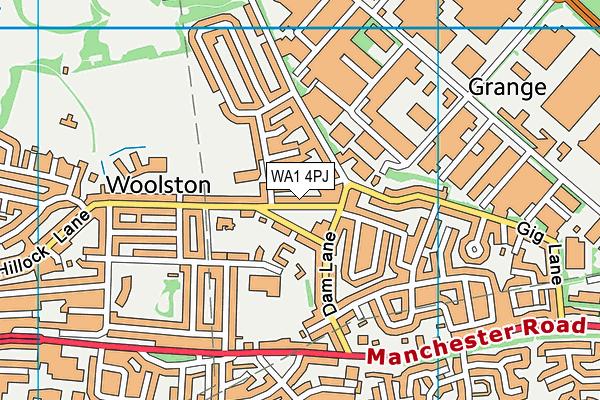 WA1 4PJ map - OS VectorMap District (Ordnance Survey)
