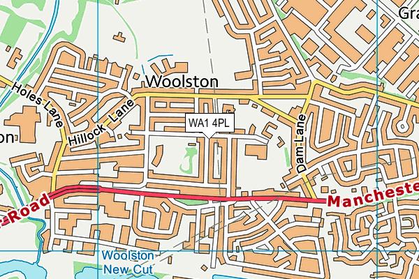 WA1 4PL map - OS VectorMap District (Ordnance Survey)