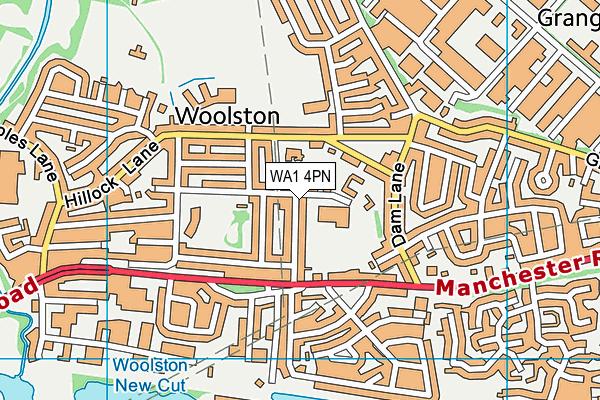WA1 4PN map - OS VectorMap District (Ordnance Survey)