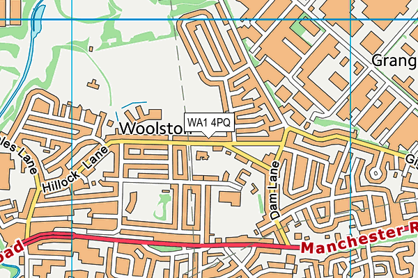 St Peters Primary School map (WA1 4PQ) - OS VectorMap District (Ordnance Survey)
