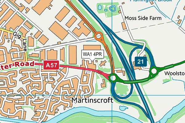 WA1 4PR map - OS VectorMap District (Ordnance Survey)
