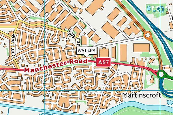 WA1 4PS map - OS VectorMap District (Ordnance Survey)