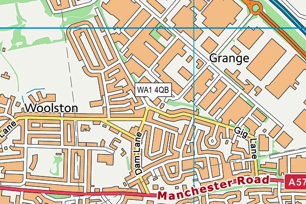 WA1 4QB map - OS VectorMap District (Ordnance Survey)