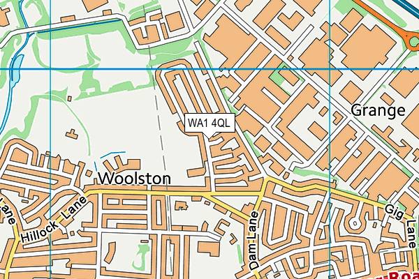 Woolston CofE Aided Primary School map (WA1 4QL) - OS VectorMap District (Ordnance Survey)