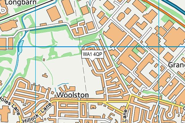 WA1 4QP map - OS VectorMap District (Ordnance Survey)