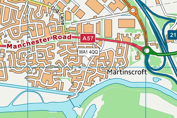 WA1 4QQ map - OS VectorMap District (Ordnance Survey)