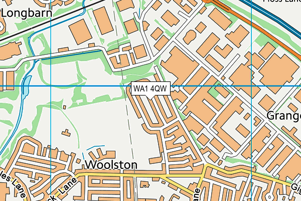 WA1 4QW map - OS VectorMap District (Ordnance Survey)
