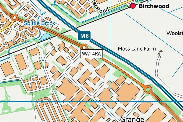 WA1 4RA map - OS VectorMap District (Ordnance Survey)