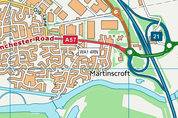 WA1 4RN map - OS VectorMap District (Ordnance Survey)