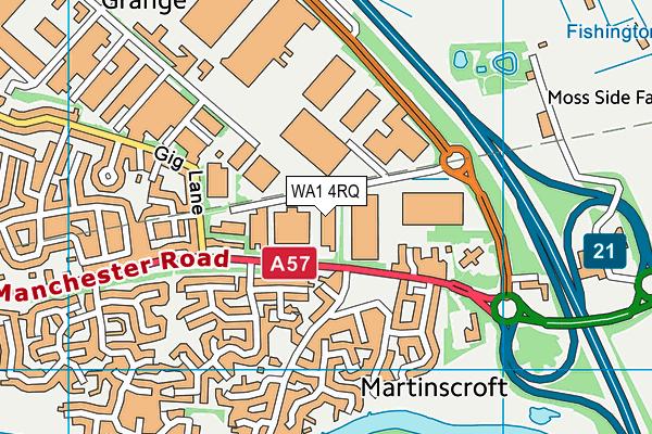 WA1 4RQ map - OS VectorMap District (Ordnance Survey)