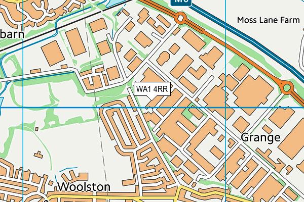 WA1 4RR map - OS VectorMap District (Ordnance Survey)