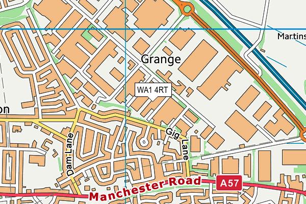 WA1 4RT map - OS VectorMap District (Ordnance Survey)