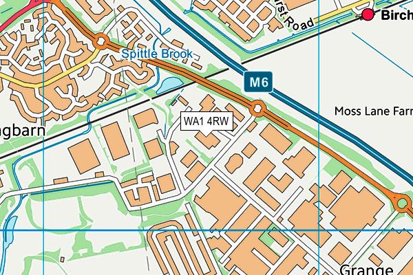 WA1 4RW map - OS VectorMap District (Ordnance Survey)