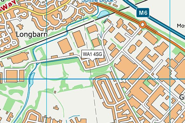 WA1 4SG map - OS VectorMap District (Ordnance Survey)