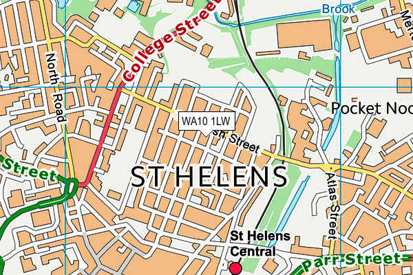 Parish Church of England Primary School, St Helens map (WA10 1LW) - OS VectorMap District (Ordnance Survey)