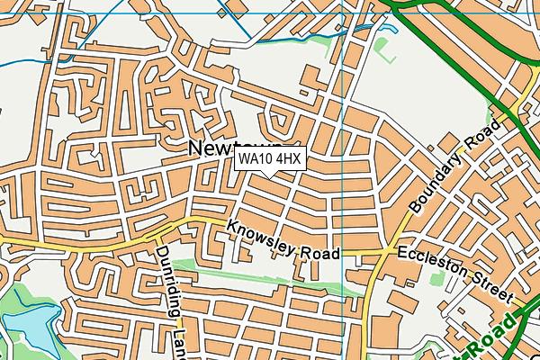 St Teresa's Catholic Primary School, Devon Street map (WA10 4HX) - OS VectorMap District (Ordnance Survey)