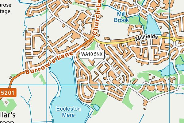 Eccleston Mere Primary School map (WA10 5NX) - OS VectorMap District (Ordnance Survey)