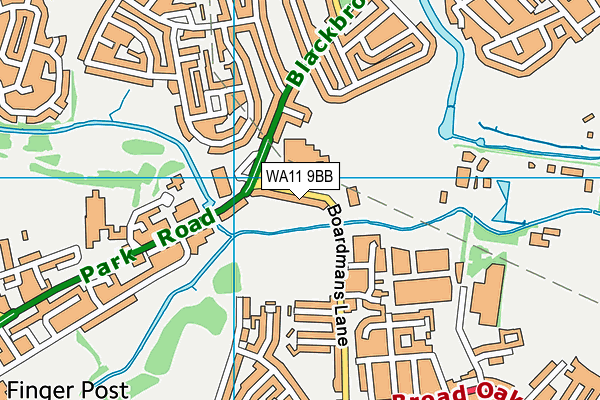 St Augustine of Canterbury Catholic High School map (WA11 9BB) - OS VectorMap District (Ordnance Survey)