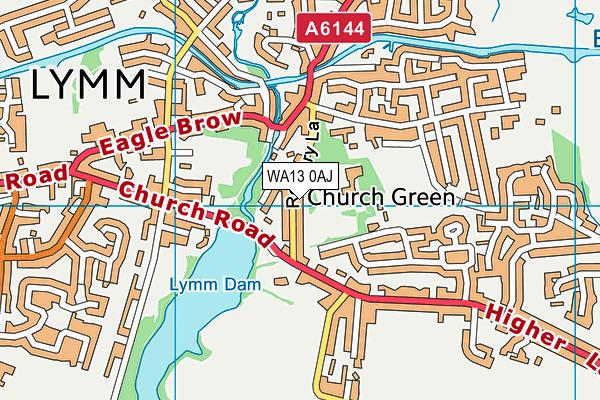 WA13 0AJ map - OS VectorMap District (Ordnance Survey)