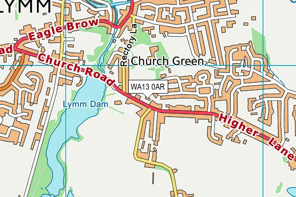 WA13 0AR map - OS VectorMap District (Ordnance Survey)