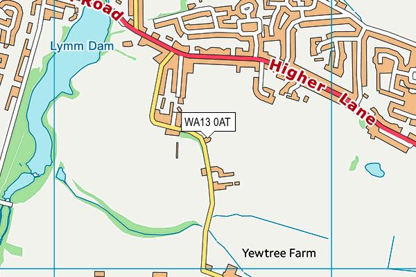 WA13 0AT map - OS VectorMap District (Ordnance Survey)