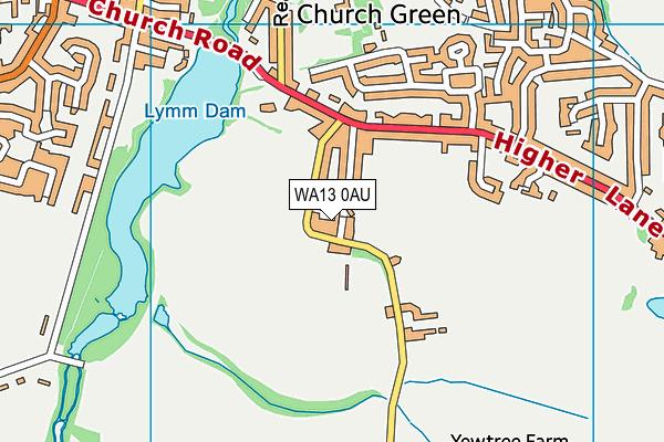 WA13 0AU map - OS VectorMap District (Ordnance Survey)