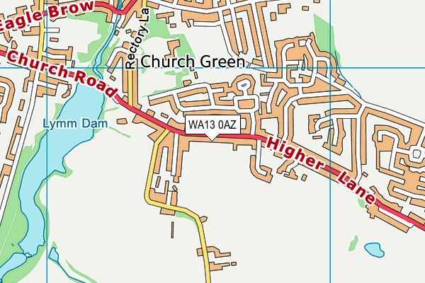 WA13 0AZ map - OS VectorMap District (Ordnance Survey)