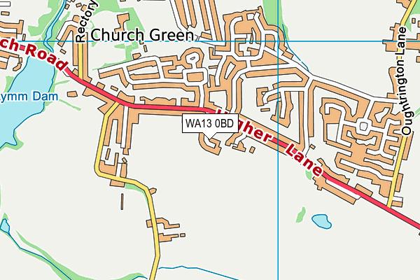 WA13 0BD map - OS VectorMap District (Ordnance Survey)