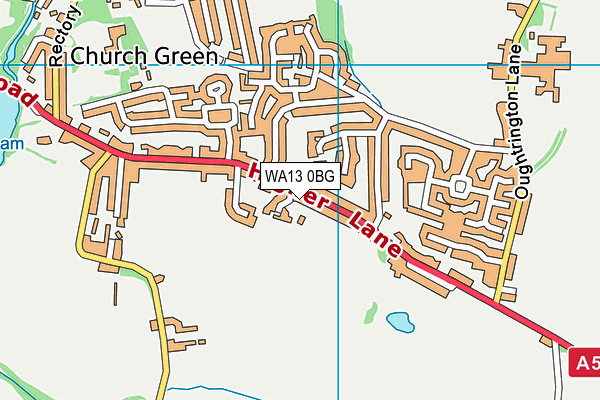 WA13 0BG map - OS VectorMap District (Ordnance Survey)