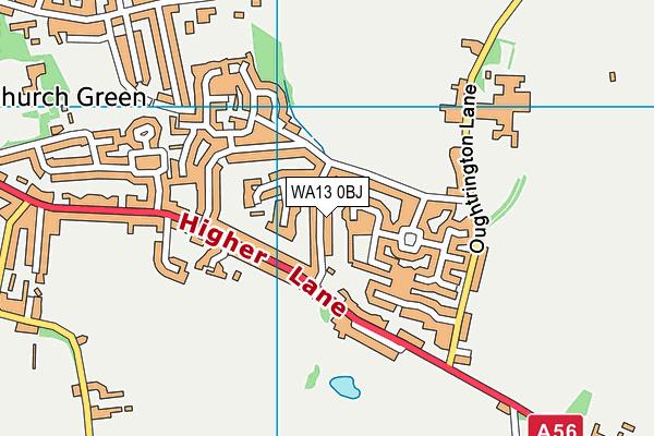 WA13 0BJ map - OS VectorMap District (Ordnance Survey)