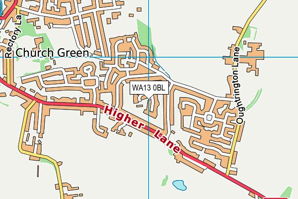 WA13 0BL map - OS VectorMap District (Ordnance Survey)