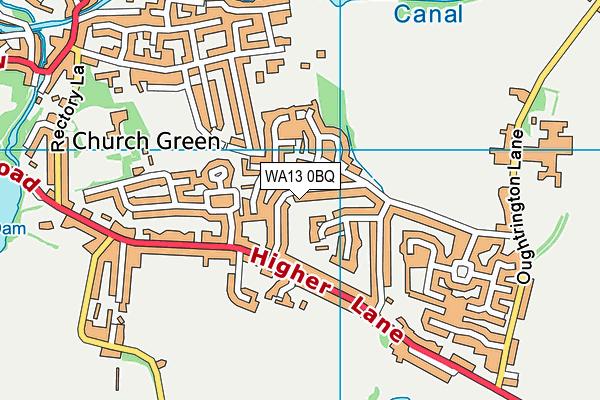 WA13 0BQ map - OS VectorMap District (Ordnance Survey)