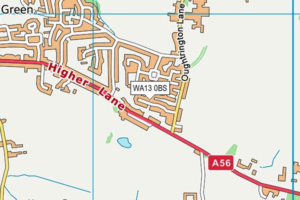 WA13 0BS map - OS VectorMap District (Ordnance Survey)