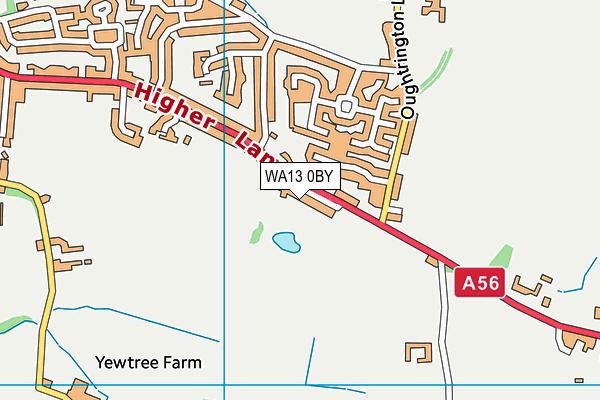 WA13 0BY map - OS VectorMap District (Ordnance Survey)