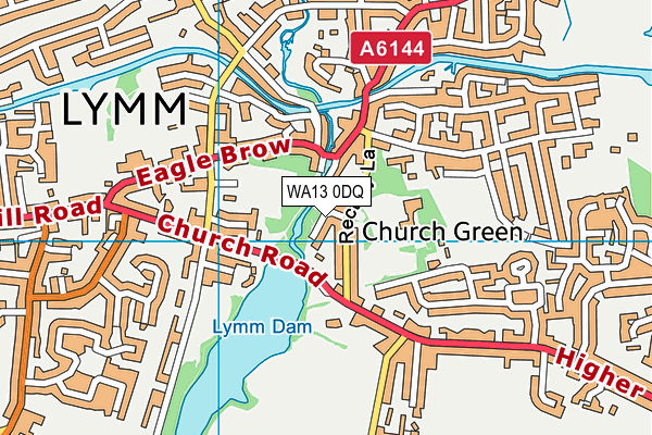 WA13 0DQ map - OS VectorMap District (Ordnance Survey)