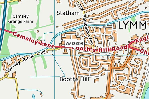 WA13 0DR map - OS VectorMap District (Ordnance Survey)