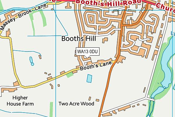 WA13 0DU map - OS VectorMap District (Ordnance Survey)