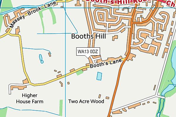 WA13 0DZ map - OS VectorMap District (Ordnance Survey)