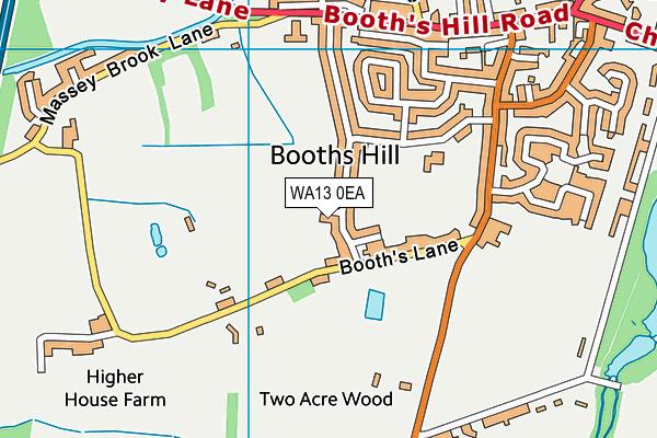WA13 0EA map - OS VectorMap District (Ordnance Survey)