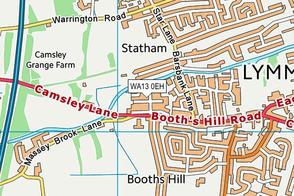 WA13 0EH map - OS VectorMap District (Ordnance Survey)