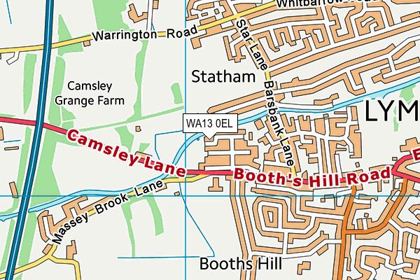 WA13 0EL map - OS VectorMap District (Ordnance Survey)