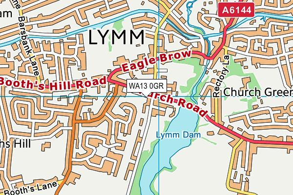 WA13 0GR map - OS VectorMap District (Ordnance Survey)