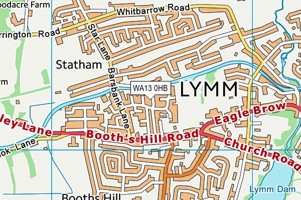 WA13 0HB map - OS VectorMap District (Ordnance Survey)