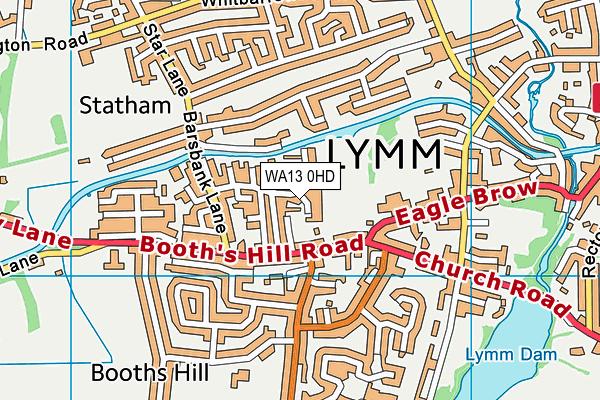 WA13 0HD map - OS VectorMap District (Ordnance Survey)