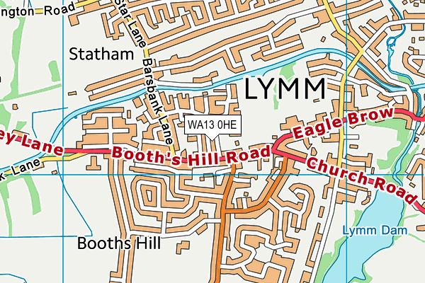 WA13 0HE map - OS VectorMap District (Ordnance Survey)