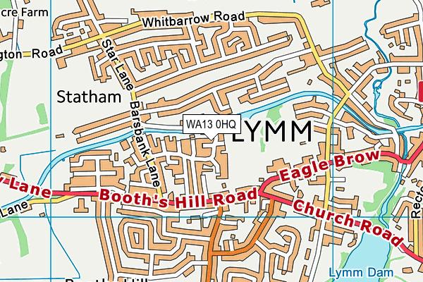 WA13 0HQ map - OS VectorMap District (Ordnance Survey)