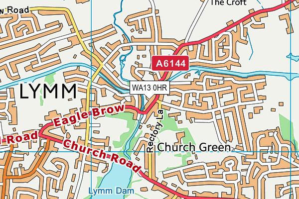 WA13 0HR map - OS VectorMap District (Ordnance Survey)